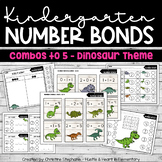 Kindergarten Number Bonds Combos to 5 - Dinosaur Theme