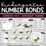 Kindergarten Number Bonds Combos to 5 - Dinosaur Theme