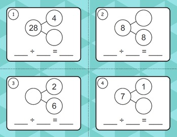 Number Bonds: Division Task Cards