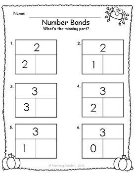 Number Bonds Singapore Math