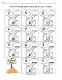 Number Bonds Find the Missing Addend October Pumpkins