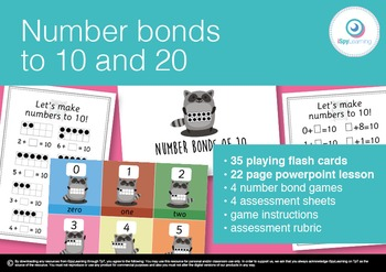 Friends of 10 &20 Number Bonds Game, Powerpoint, Activity Sheets & Teaching Pack