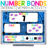 Number Bonds Halloween Math for Google (TM) and PowerPoint