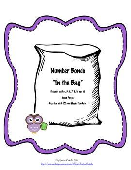 "Number Bonds ""'In the Bag"""