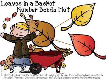 Number Bonds:  Leaf Pile