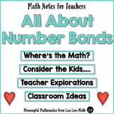 Number Bonds FREE  Math Notes for Teachers