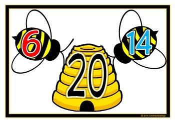 Number Bonds - Making 20 (Bees)
