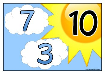Number Bonds - Making 10 (Sun & Clouds)