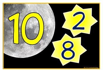 Number Bonds - Making 10 (Moon & Stars)