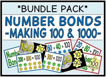 Number Bonds - Making 100 & 1000 (BUNDLE PACK)