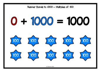Number Bonds - Making 1000