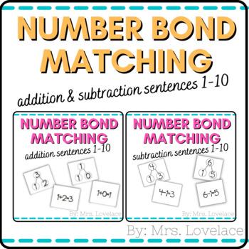 Number Bonds: Matching Addition & Subtraction Sentences Bundle- Singapore Math