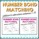 Number Bonds: Matching Addition & Subtraction Sentences Bundle- Singapore Math