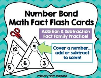 Math Fact Flash Cards - Number Bonds