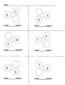 number bonds math in focus grade 1 by jennifer lam tpt. Black Bedroom Furniture Sets. Home Design Ideas