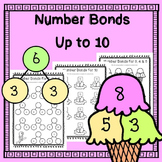 Number Bonds to Ten - Splitting Numbers Up to 10 - Printables / Worksheets