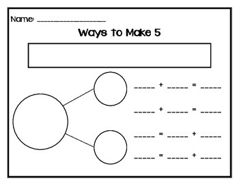 Number Bonds - One Way to Make ... Numbers 5-10