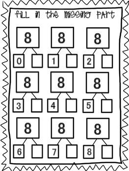 Number Bonds- Parts of 8