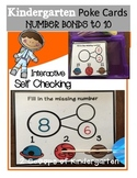 Number Bonds Poke Cards (space theme)