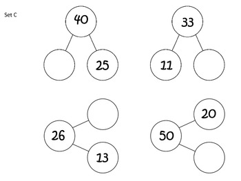 Number Bonds Practice Cards