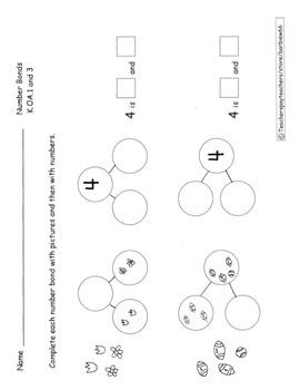 Number Bonds Practice Pages Decomposition Composition of Numbers to 6 17 pages
