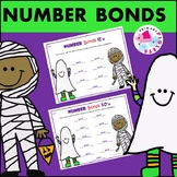 Halloween Number Bonds Practice Set