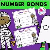 Number Bonds Practice Set Halloween October