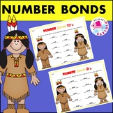 Native Americans November Number Bonds Practice Set