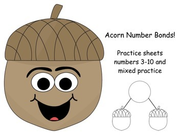 Number Bonds Practice Worksheets
