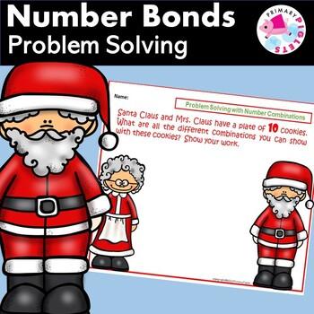 Number Bonds Christmas Problem Solving with SANTA