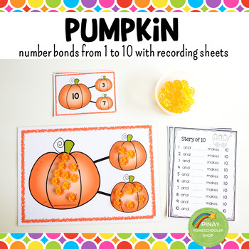 Number Bonds - Pumpkin