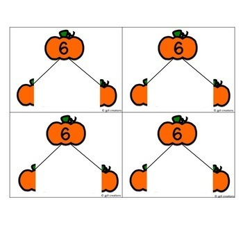 Number Bonds - Pumpkin Theme