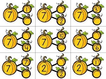 Number Bonds Pumpkins