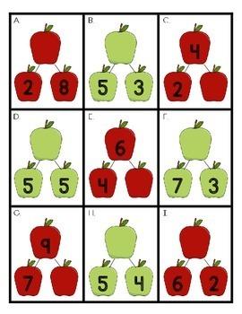 Number Bonds: Apples