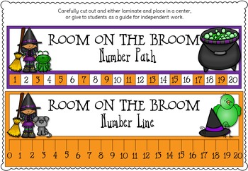 Number Bonds Room on the Broom Inspired