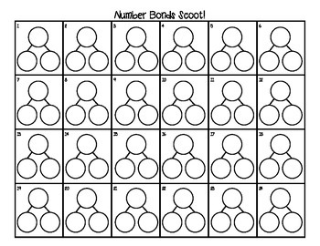 Number Bonds Scoot FREEBIE! (Numbers 4-8)