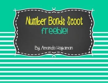Number Bonds Scoot FREEBIE! (Numbers 4-8)