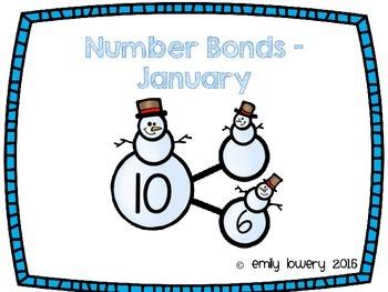 Number Bonds Snowmen