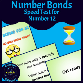 Number Bonds Speed Test for Number 12