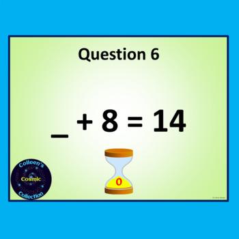 Number Bonds Speed Test for Number 14