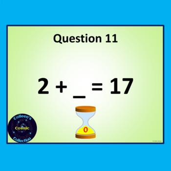 Number Bonds Speed Test for Number 17