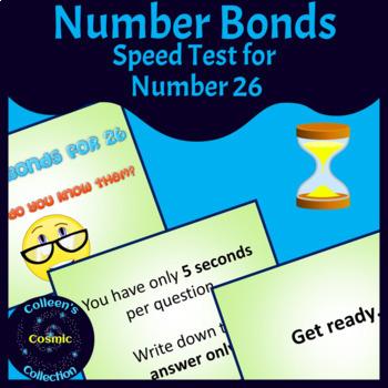 Number Bonds Speed Test for Number 26
