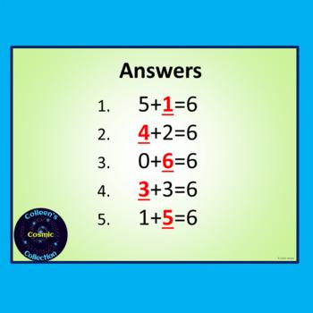 Number Bonds Speed Test for Number 6
