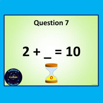 Number Bonds Speed Tests for Numbers 4 - 10 BUNDLE