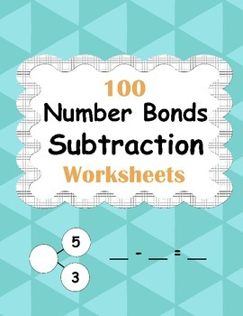 Number Bonds: Subtraction Worksheets