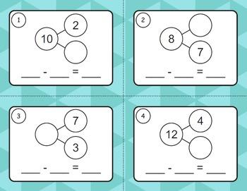 Number Bonds: Subtraction Task Cards