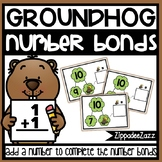 Number Bonds Task Cards Groundhog Theme