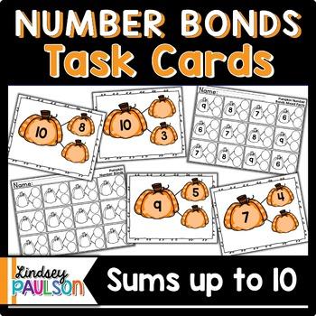 Number Bonds Task Cards Pumpkins