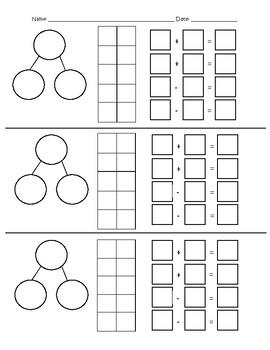 Number Bonds, Ten Frames & Fact Families