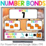 Number Bonds Thanksgiving Math for Google (TM) & PowerPoin